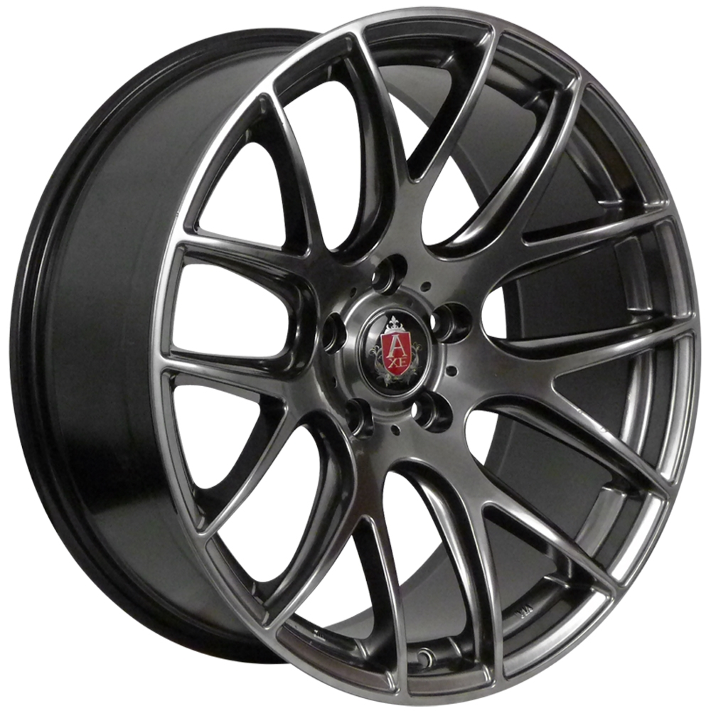 "NEW 19"" AXE CS LITE ALLOY WHEELS IN HYPER BLACK,WITH VERY DEEP CONCAVE 9.5"" REARS"